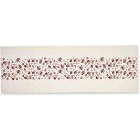 LOBERON Tischläufer Vestré, weiß/rot (50 x 150cm)