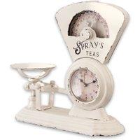 LOBERON Uhr Balances, antikweiß (12 x 32.5 x 30.5cm)