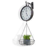 LOBERON Uhr Locras, schwarz/weiß (37 x 41 x 101cm)