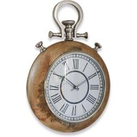 LOBERON Uhr Reims, antikbraun/weiß (38cm)