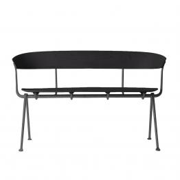Magis - Officina Sitzbank - schwarz/Buche/BxHxT 125x82x57cm/Gestell anthrazit lackiert