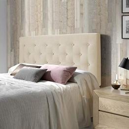 Marckonfort - Oslo Kopfteil für Bett 160 X 100 X 8 cm, gepolstert in beige geröstet - 1
