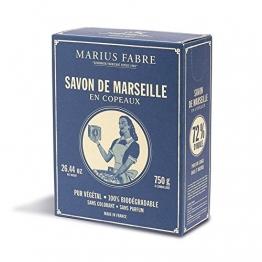 Marius Fabre Seifenflocken Savon de Marseille nature (für Maschinen und Handwäsche), 750 g - 1