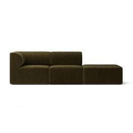 Menu - Eave 86 Modular 3-Seater Sofa Armrest Left Velvet - grün/Stoff Jab Champion 1-3114-035/BxHxT 247x70.5x86cm