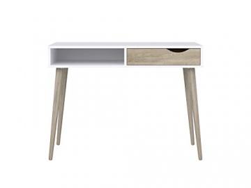 Movian Havel skandinavischer Stil  Schreibtisch mit einer Schublade, 50 x 100 x 75, Weiß - 2