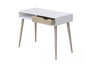 Movian Havel skandinavischer Stil  Schreibtisch mit einer Schublade, 50 x 100 x 75, Weiß - 4