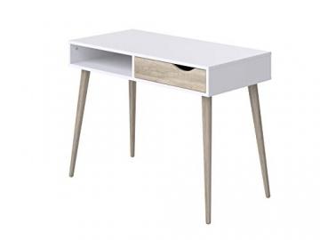 Movian Havel skandinavischer Stil  Schreibtisch mit einer Schublade, 50 x 100 x 75, Weiß - 1