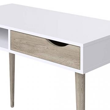Movian Havel skandinavischer Stil  Schreibtisch mit einer Schublade, 50 x 100 x 75, Weiß - 6