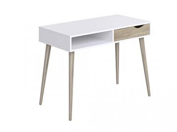 Movian Havel skandinavischer Stil  Schreibtisch mit einer Schublade, 50 x 100 x 75, Weiß - 7