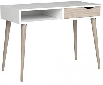 Movian Havel skandinavischer Stil  Schreibtisch mit einer Schublade, 50 x 100 x 75, Weiß - 8