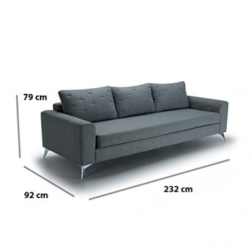 Movian Jazz 3-Sitzer, Grau/Grün - 5