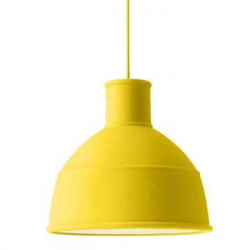 Muuto - Unfold Pendelleuchte - gelb/Ø 32,5cm