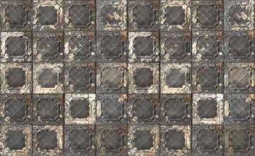 NLXL Tapete Brooklyn Tins, von Merci, 1Rolle 1000x48,7cm, Dunkelgrau/ Braun/ Weiß - 3