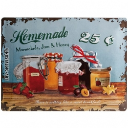 Nostalgic-Art 23103 Home & Country - Homemade Marmalade, Blechschild 30x40 cm - 1