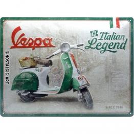 Nostalgic-Art 23283 - Vespa - Italian Legend - Blechschild  30 x 40 cm - 1