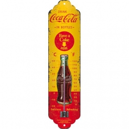 Nostalgic-Art 80311 Coca-Cola - In Bottles Yellow, Thermometer - 1