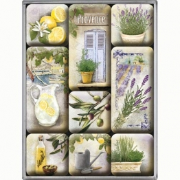 Nostalgic-Art 83068 Home & Country - Mediterranean, Magnet-Set (9teilig) - 1