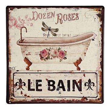 Nostalgie Blechschild Badezimmer 30×30 cm -