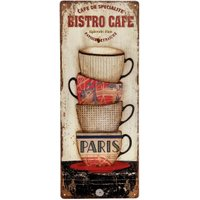 Nostalgisches Blechschild BISTRO CAFE PARIS Dekoschild Vintage 50x20cm