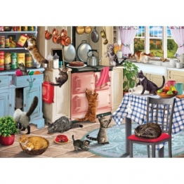 Otter House Puzzle Cats In The Kitchen 1000 Teile Puzzle Otter-House-Puzzle-74750