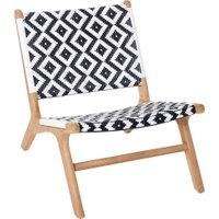 Outdoor-Stuhl, Natur/Weiß, IMPRESSIONEN living