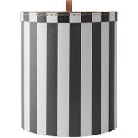 OYOY - Aufbewahrungsbox L, Ø 28 x H 32 cm, schwarz / weiß