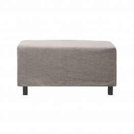 Pouf Hazel Night aus Baumwolle in Grau 85 x 85 x 44 cm