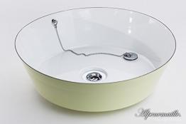 Premium Emaille Waschbecken FANNI | viele Farben, Designs & Logo | Handgemacht in Österreich | Alpenemaille® / RIESS® Edition (ø40 x 10.5cm) - 1