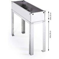 Premium-Tisch-Hochbeet 80 Liter Edelstahl, 90 x 112,5 x 37,5 cm