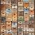 R12901-5 Vlies-Wandbild 270 x 225 cm Deco Fototapete Holzkisten Vintage bunt Holzoptik Digitaldruck - 1