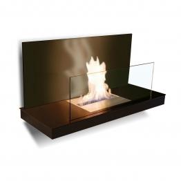 Radius Design - Wallflame II Stahl, schwarz / Glas