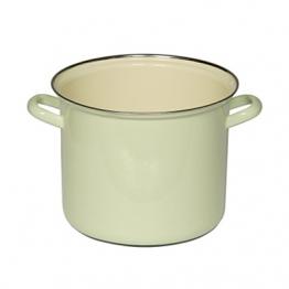 Riess Kochtopf aus Emaille Grün 22 cm 6 l