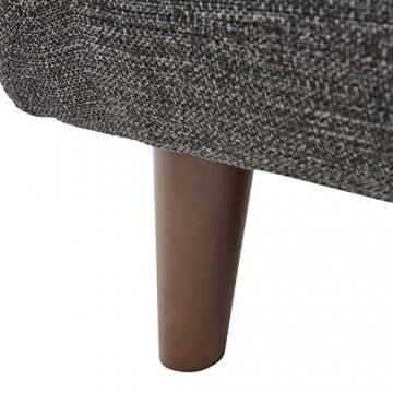 Rivet Hawthorne Modernes, getuftetes Zweisitzer-Sofa im Stil der 1950er Jahre, B 145cm, Kaviar - 4