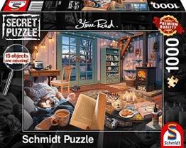 Schmidt Spiele 59655 Secret, Ferienhaus, 1000 Teile Puzzle, bunt - 1
