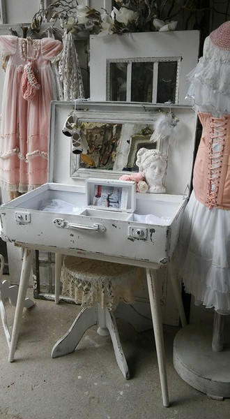 schminktisch koffer shabby chic shop landhaus look. Black Bedroom Furniture Sets. Home Design Ideas