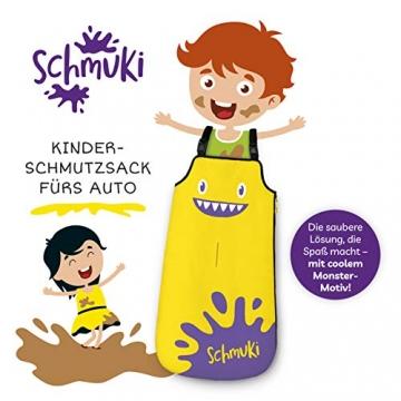 Schmuki Kinderschmutzsack | Fußsack für Kindersitz, Buggy und Kinderwagen - so bleibt auch nach dem Spielen das Auto sauber | geeignet für Mädchen und Jungen im Alter von 3 - 6 Jahren (Richtwert) - 2