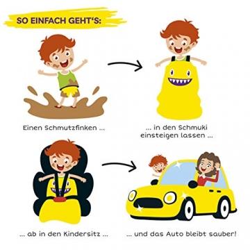 Schmuki Kinderschmutzsack | Fußsack für Kindersitz, Buggy und Kinderwagen - so bleibt auch nach dem Spielen das Auto sauber | geeignet für Mädchen und Jungen im Alter von 3 - 6 Jahren (Richtwert) - 4