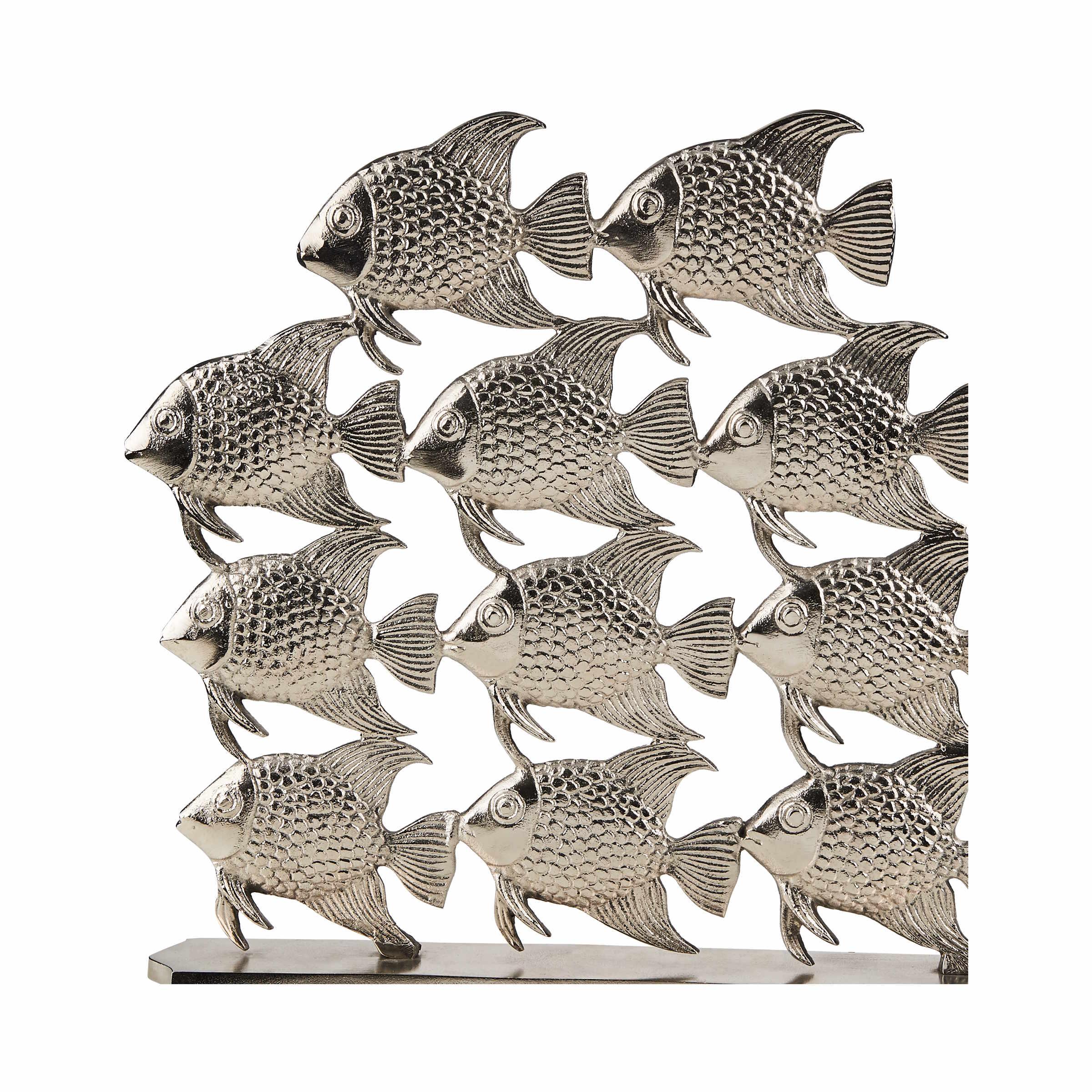 SILVER NATURE Fischschwarm Höhe 40 cm