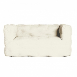 Sitting Bull Couch l 2-Sitzer Sofa - weiß/155x73x75cm