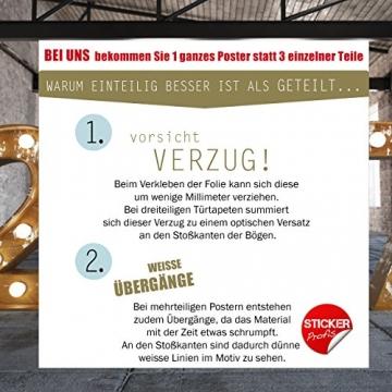 StickerProfis Türtapete selbstklebend TürPoster - BÜCHERREGAL - Fototapete Türfolie Poster Tapete - 6