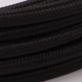 Textilkabel 3 m - Black