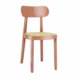 Thonet - Gloss 118 Stuhl mit Rohrgeflecht - altrosa/Hochglanz lackiert/BxHxT 42x80x50cm/Sitz mit Rohrgeflecht