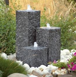 Ubbink AcquaArte Siena Gartenbrunnen Set LED Springbrunnen