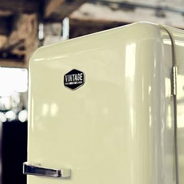 Vintage Industries ~ Retro-Kühlschrank Havanna in creme beige | 50er Jahre Look | Größe 152,5 cm | Kühl-Gefrier-Kombination 302l | Getränke-Kühlschrank mit Gefrierfach/Gefrierschrank 21l - 3