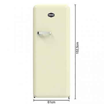 Vintage Industries ~ Retro-Kühlschrank Havanna in creme beige | 50er Jahre Look | Größe 152,5 cm | Kühl-Gefrier-Kombination 302l | Getränke-Kühlschrank mit Gefrierfach/Gefrierschrank 21l - 4