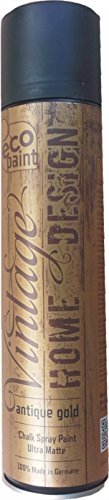 Vintage Kreide Spray antique gold 400ml Kreidefarbe Chalk Paint Shabby Chic Landhaus Stil Vintage Look - 1