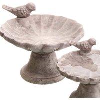 Vogeltränke / Futterstelle 'Meise' aus Beton, 20,5 cm Durchmesser