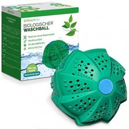 Waschklar® Bio Waschball, Saubere Wäsche ohne Waschmittel, Waschkugel für Waschmaschine, Umweltfreundliche Wäschekugel, Plastikfreie & Nachhaltige Produkte, Zero Waste - 1