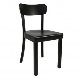 Yunic - Frankfurter Stuhl 2.0 - Buche schwarz/matt lackiert/BxHxT 44x82x49cm/max. 110kg belastbar
