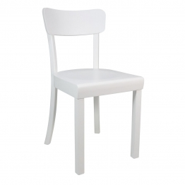 Yunic - Frankfurter Stuhl 2.0 - Buche weiß/matt lackiert/BxHxT 44x82x49cm/max. 110kg belastbar